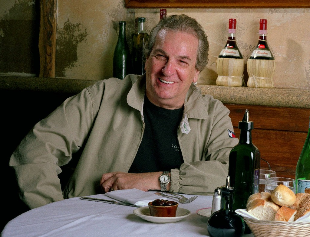 Danny Aiello poses for a photo at a restaurant in New York on July 28, 2001. The blue-collar character actor whose long career playing tough guys incl...