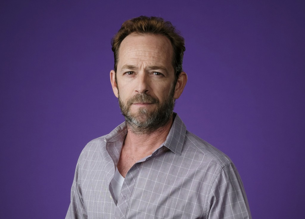 """Luke Perry, a cast member in the CW series """"Riverdale,"""" poses for a portrait during the 2018 Television Critics Association Summer Press Tour in Bever..."""