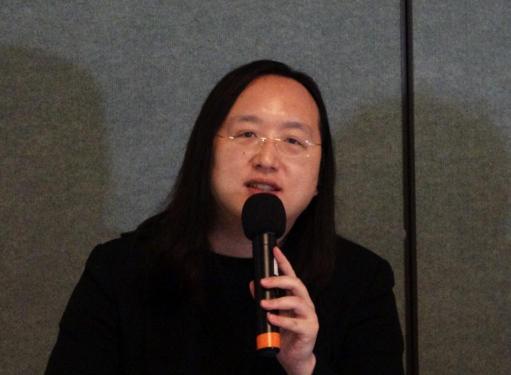 行政院政務委員唐鳳結束華府訪問後舉行媒體茶敘