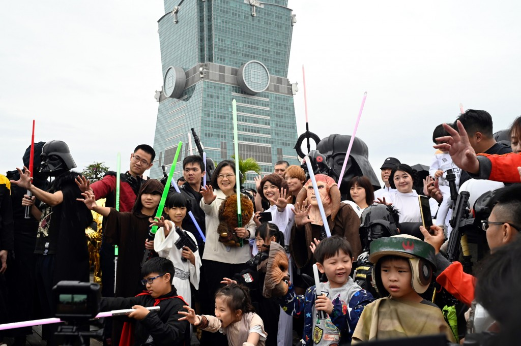President Tsai Ing-wen joined in the Star Wars Day celebrations May 4