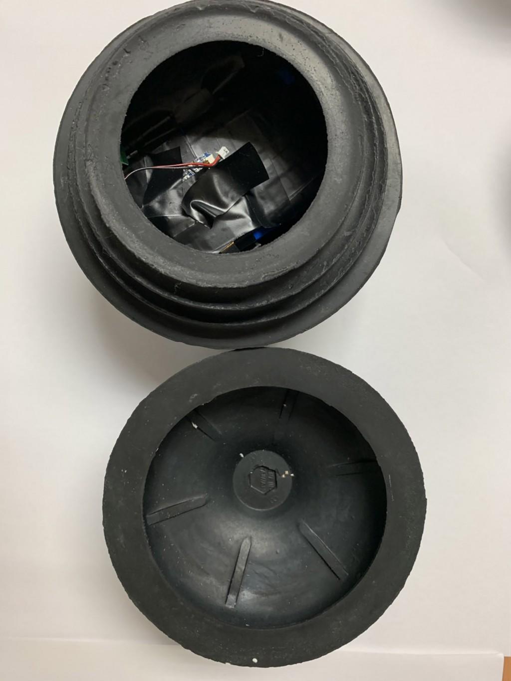 北市一間超商驚傳廁所的通便器吸盤遭人裝設針孔攝影 機,圖為贓證物(照片來源:台北市中正第二分局/中央社提供)