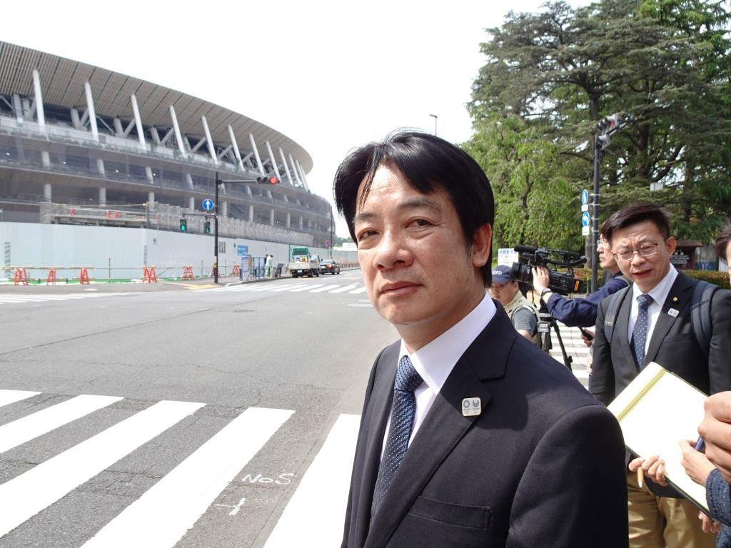 前行政院長賴清德10日參觀2020年東京奧運主場館,他 說,台灣將在2020年選出新總統,新總統應準備在東京 奧運時,加強台日合作,創...