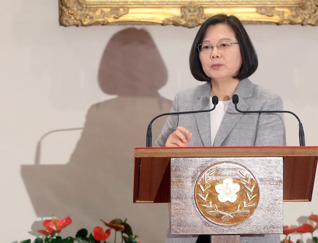 President Tsai Ing-wen on May 20 (Source: CNA)