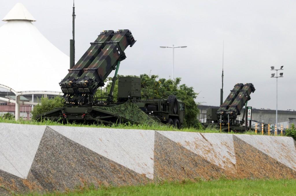 愛國者三型飛彈發射車於2019年國軍35號漢光演習時駐防台北大佳河濱公園