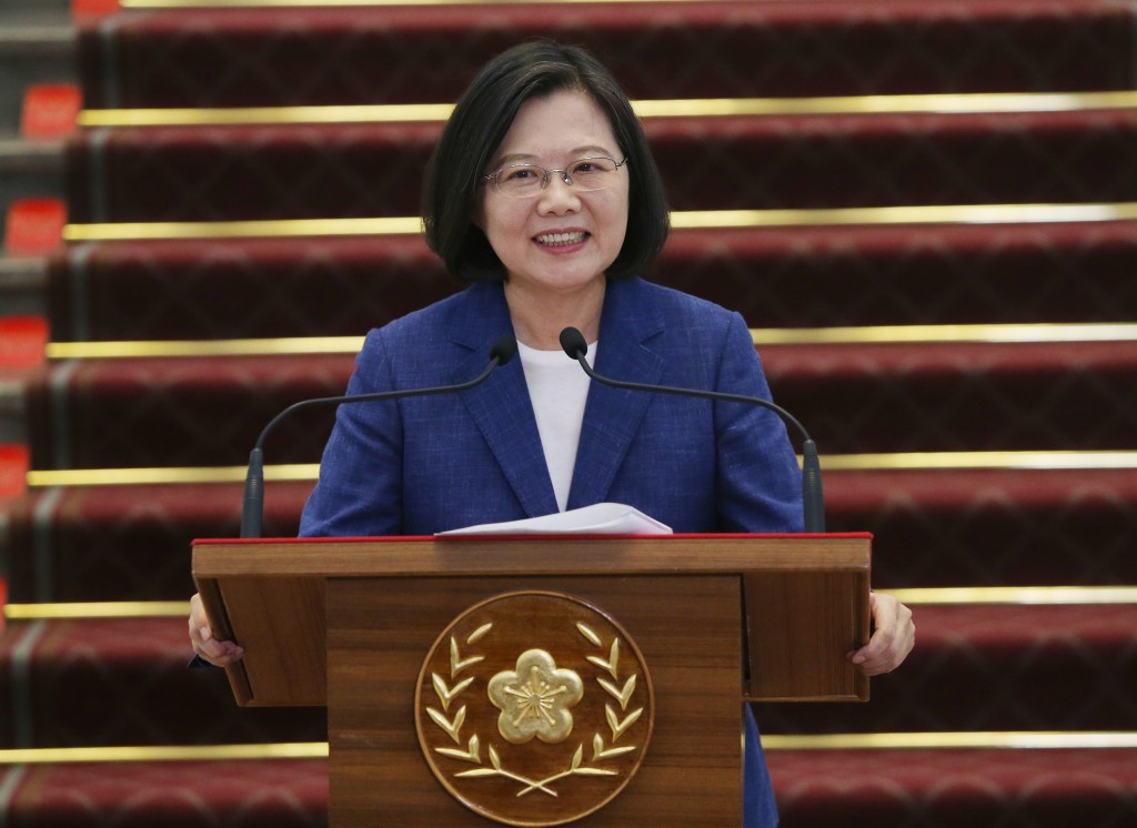President Tsai Ing-wen at a press conference on June 13 (Source: CNA)