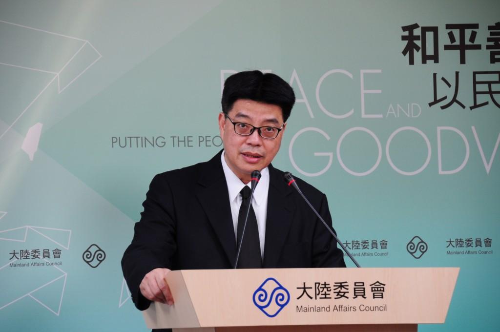 陸委會副主委兼發言人邱垂正(照片來源:資料照片/中央社提供)