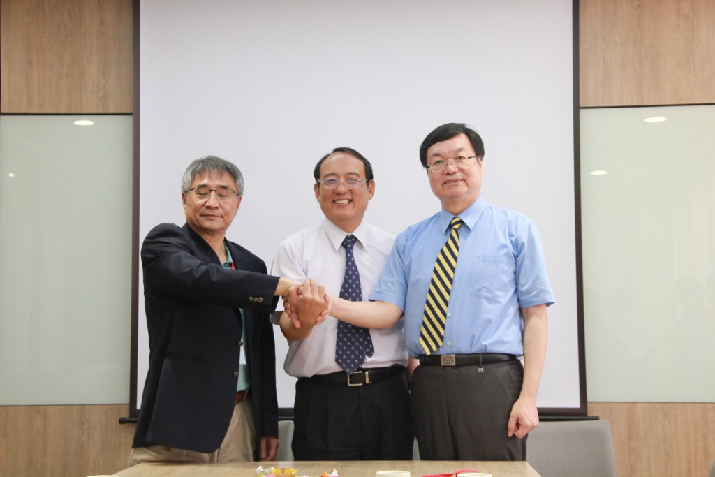Presidents of the three universities to be merged (CNA photo)