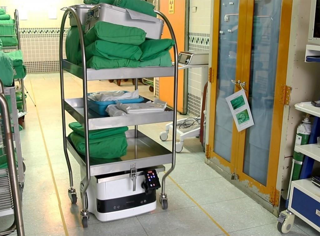 Taiwan developed AI hand cart (CNA photo)
