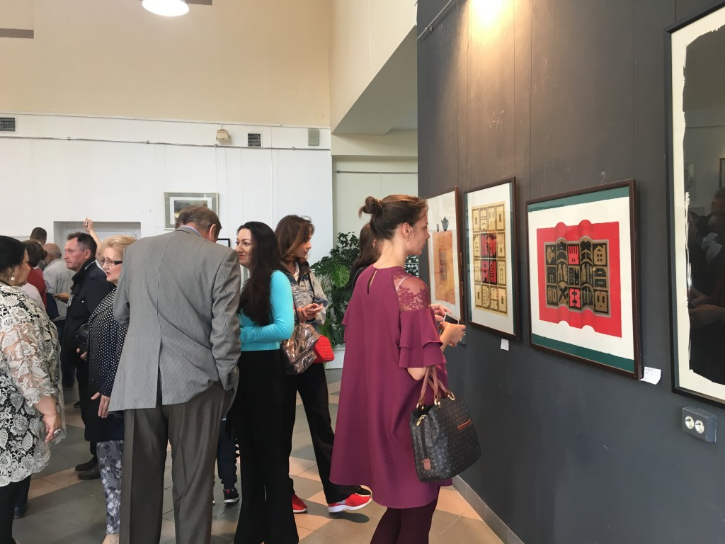 Printmaking from Taiwan, at an exhibition in Samara, Russia (Taiwan's Representative Office in Russia/CNA photo)