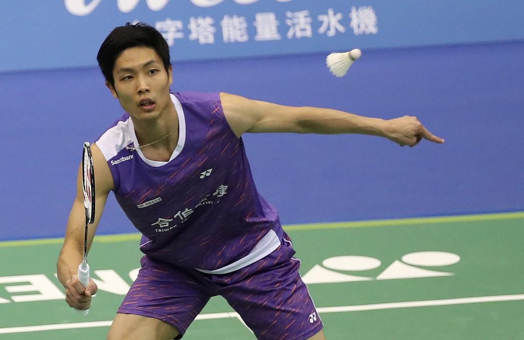 Chou Tien-chen competing in Yonex Taipei Open 2019.