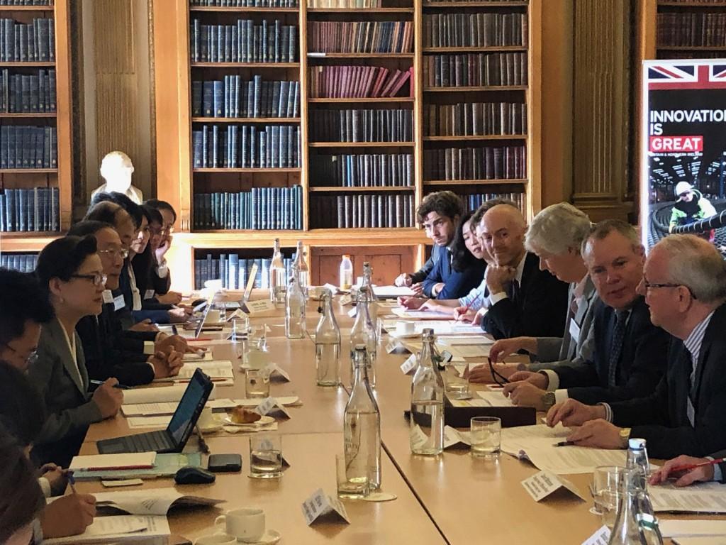 台英雙方經貿代表於2019年10月在倫敦舉行第22屆台英經貿對話會議