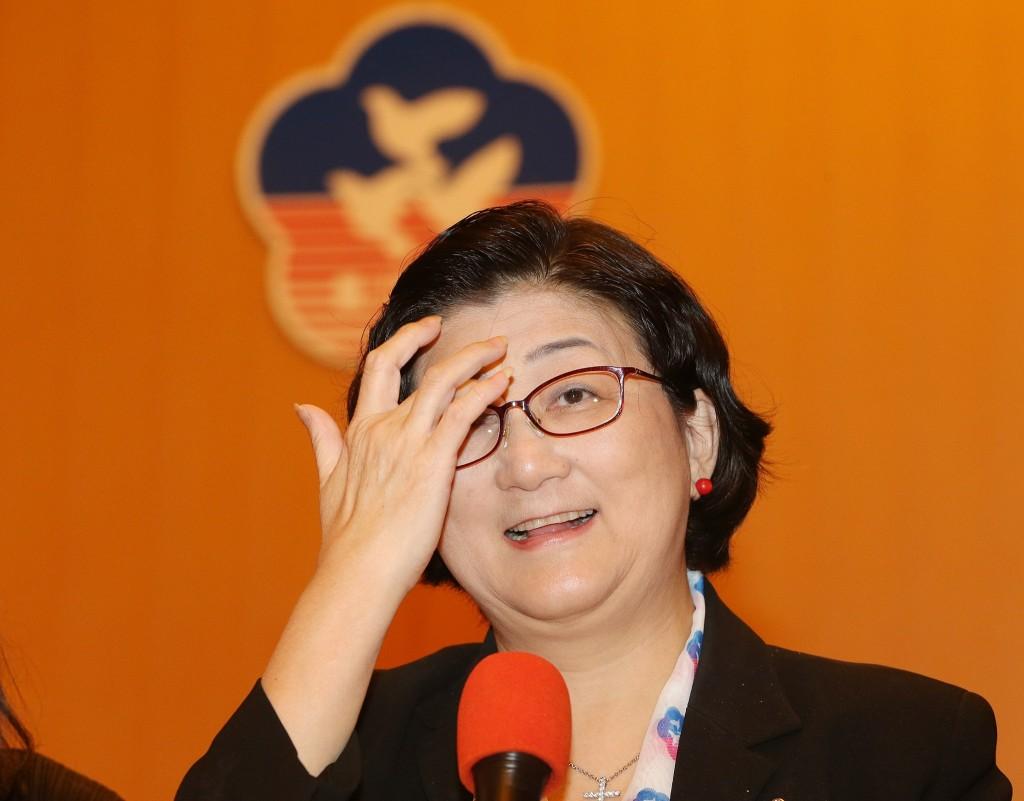 中華民國婦女聯合會16日舉行會員代表大會,圖為婦聯會主委雷倩(照片來源:中央社提供)