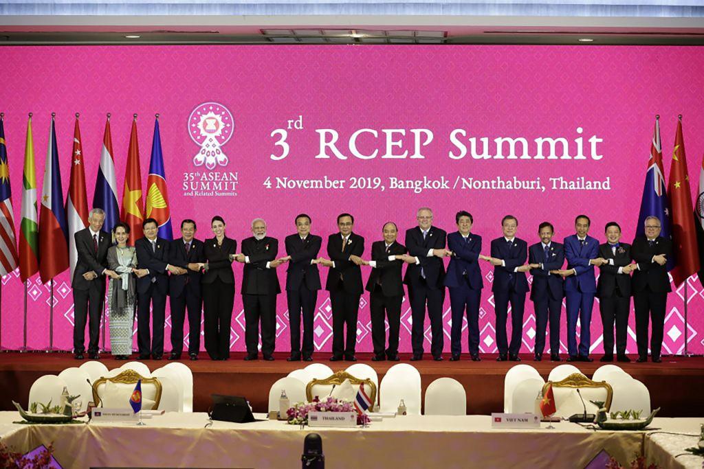 圖為2019年11月登場的第三屆RCEP高峰會 (東協秘書處提供) 。