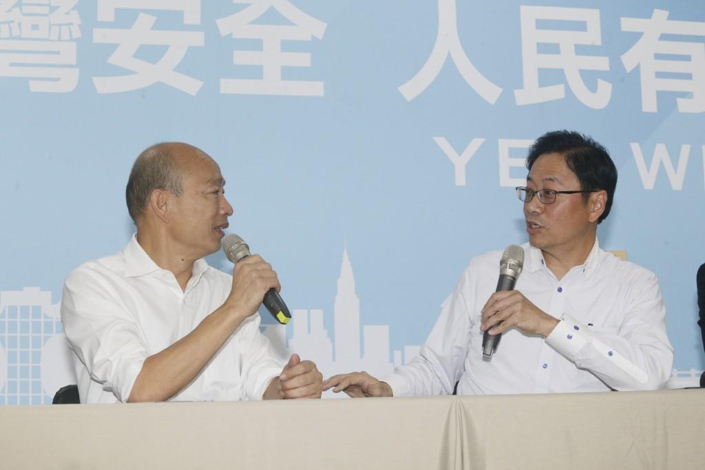 Han Kuo-yu and Chang San-cheng