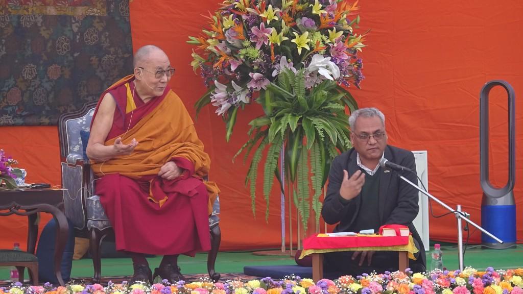 A speech from the Dalai Lama in New Delhi on Nov. 20