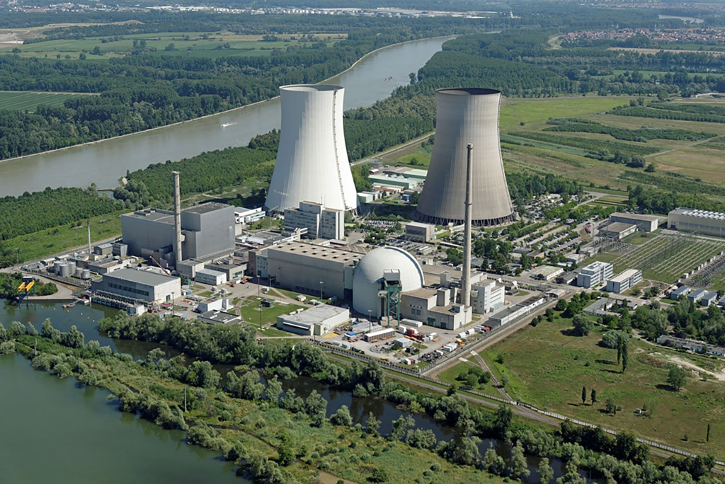 Nuclear power plant in Philippsburg, Germany.