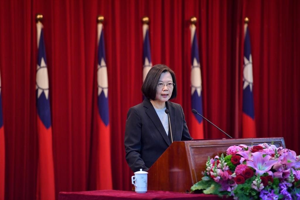 總統蔡英文24日出席陸海空軍將官晉任布達暨授階典禮