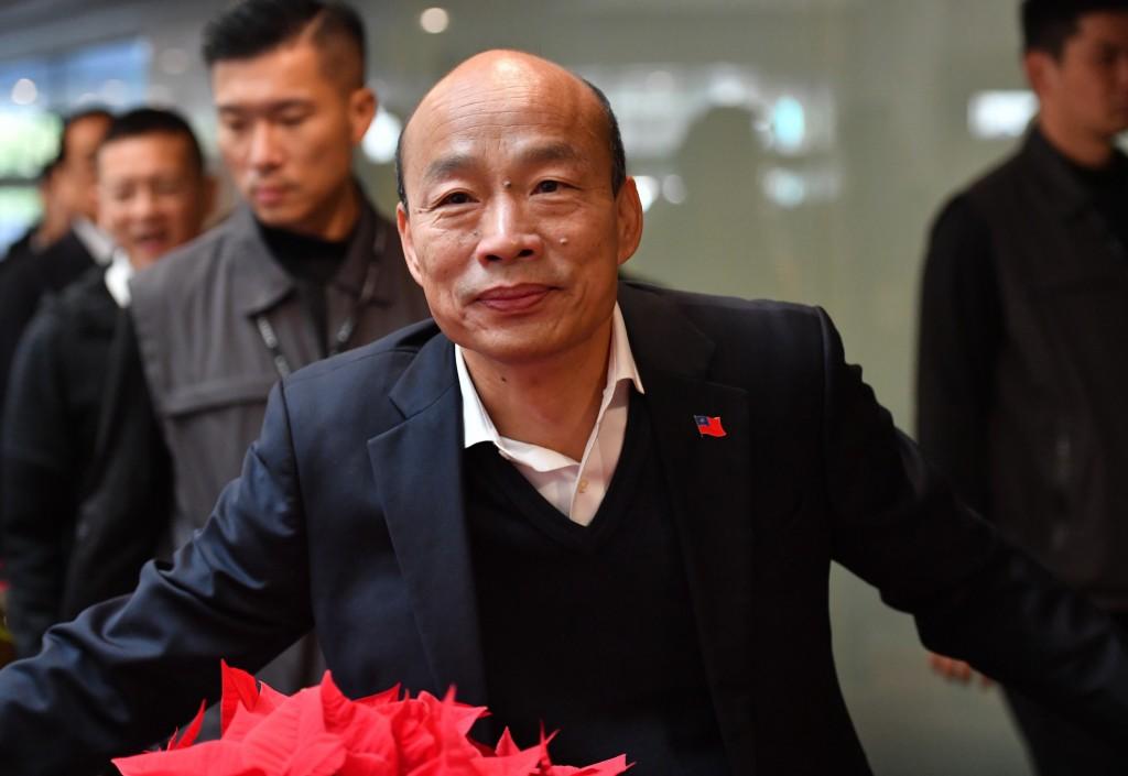 2020總統大選國民黨總統候選人韓國瑜(前)。