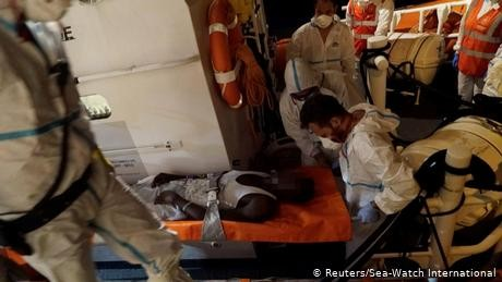Italy allows 2 more migrants to leave German rescue ship