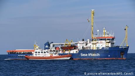 Sea-Watch captain arrested as ship docks at Lampedusa