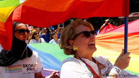 First gay pride rally held in North Macedonia