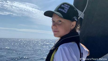 Climate activist Greta Thunberg sails into New York on zero-carbon yacht