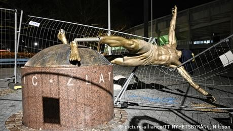 Malmo vandals saw legs off Zlatan Ibrahimovic statue