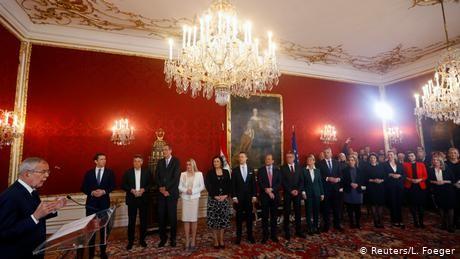 Austria swears in first female-majority Cabinet