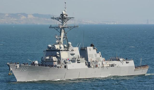 美軍驅逐艦勞倫斯號(William P. Lawrence)(照片來源:Flickr/ U.S. Pacific Fleet)