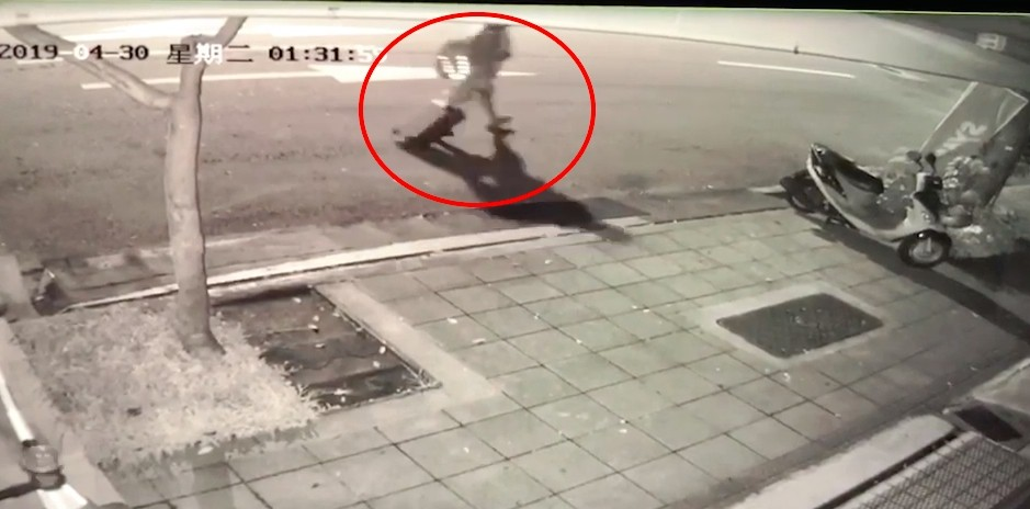 Screenshot of video released by Taipei Police Department.