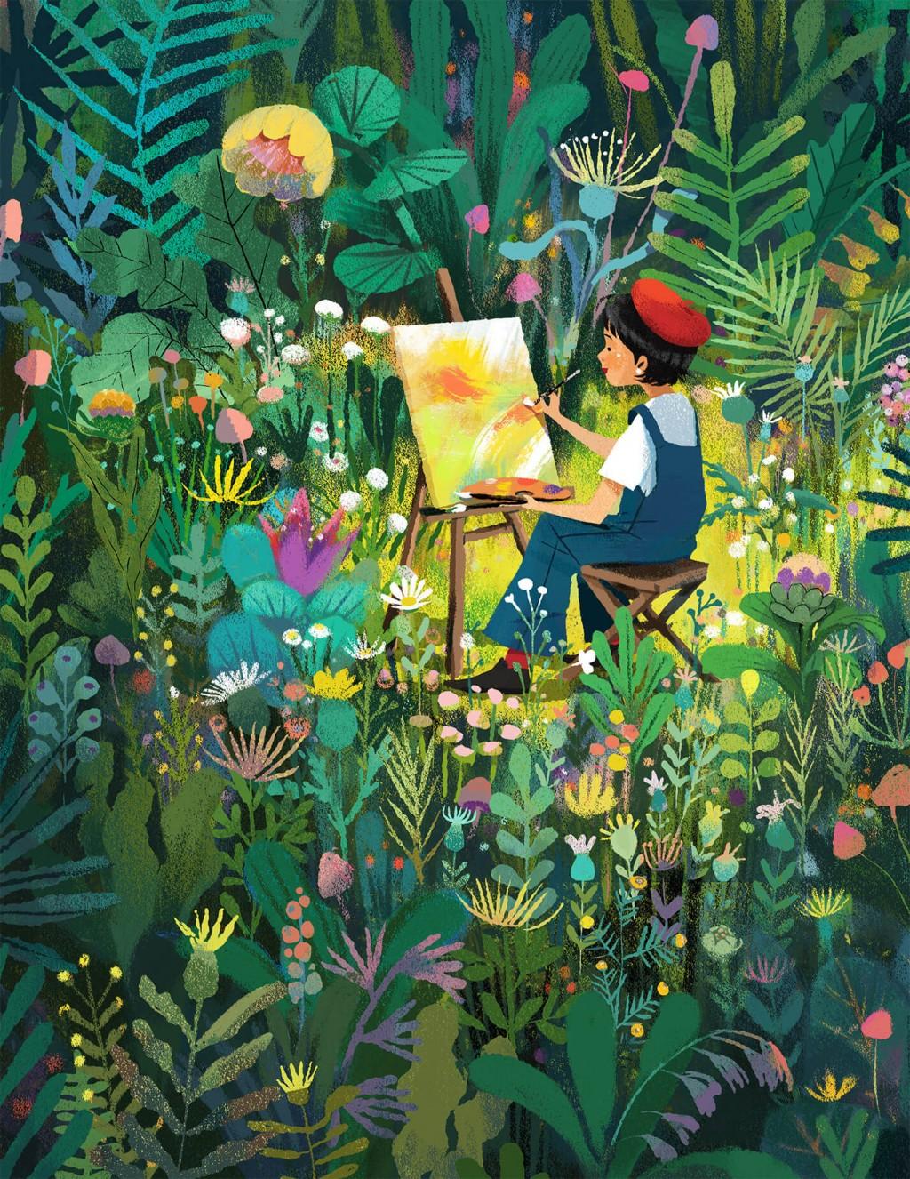 越南插畫家新北溫暖開展 秀出東南亞療癒女力