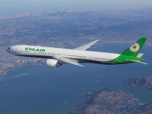 An EVA Air flight.