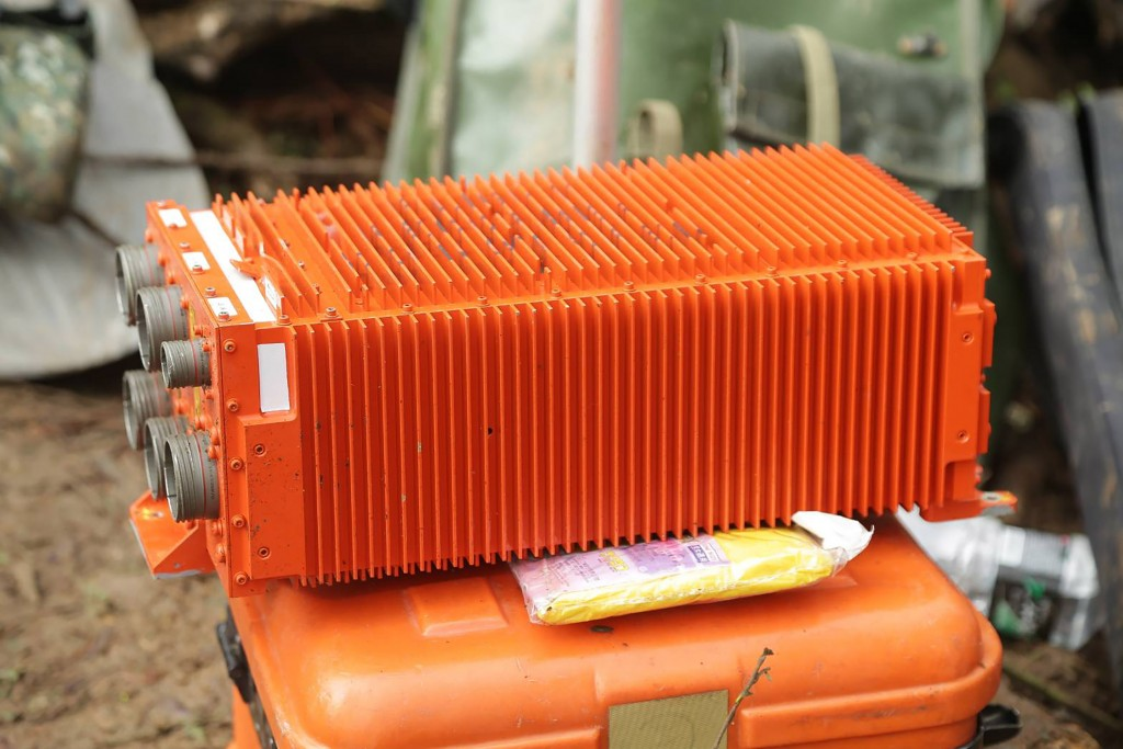 Flight recorder from crashed Black Hawk. (Ministry of National Defense photo)