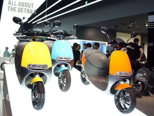 Gogoro scooters.