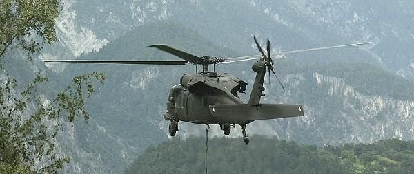 Air Force Black Hawk rescues mountain hiker in S. Taiwan