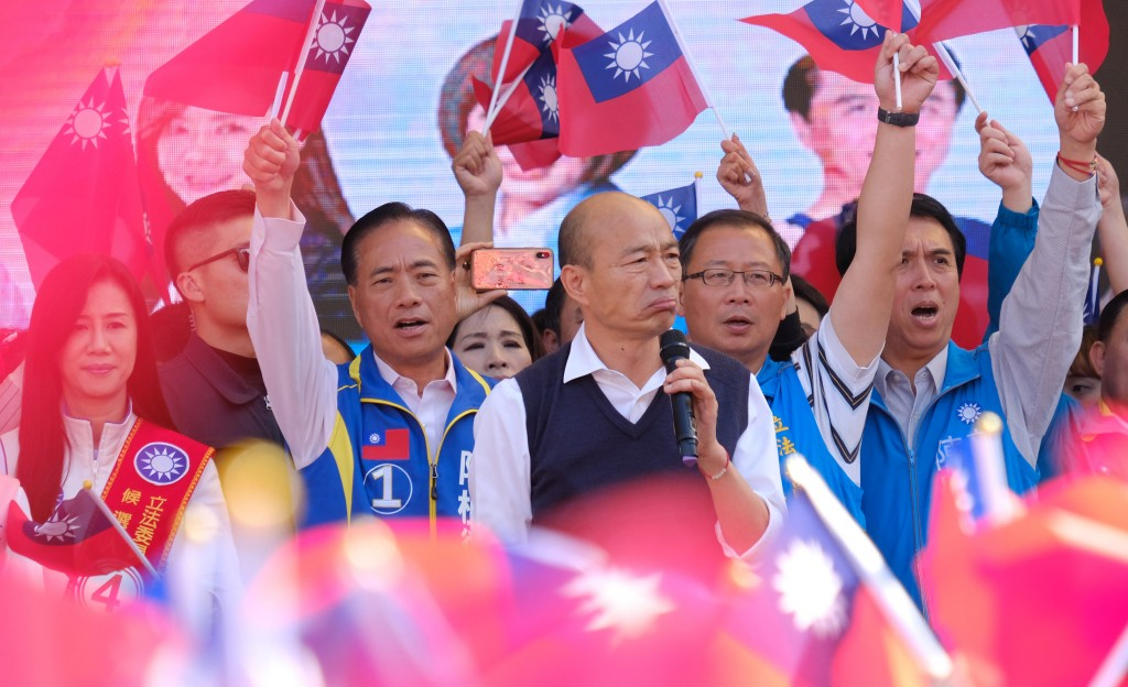 Han at campaign rally.