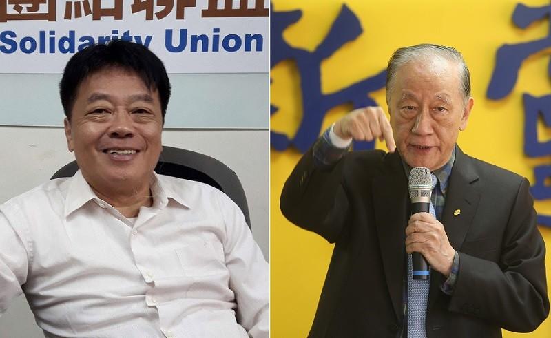 左為台聯黨主席劉一德, 右為新黨主席郁慕明(原圖:中央社/TN合成)