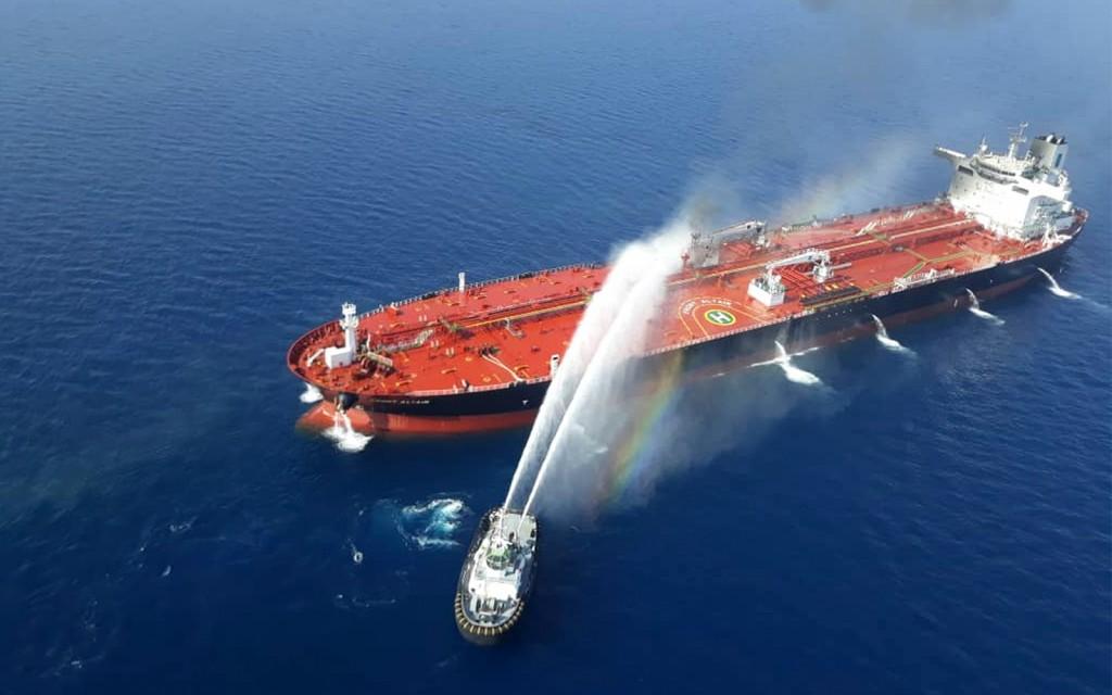 Fire on board an Iranian tanker last year.