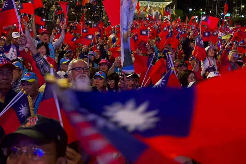 Supporters of Han Kuo-yu, Taiwan's 2020 presidential election candidate.