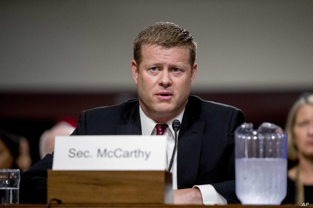 U.S. Secretary of the Army Ryan McCarthy.