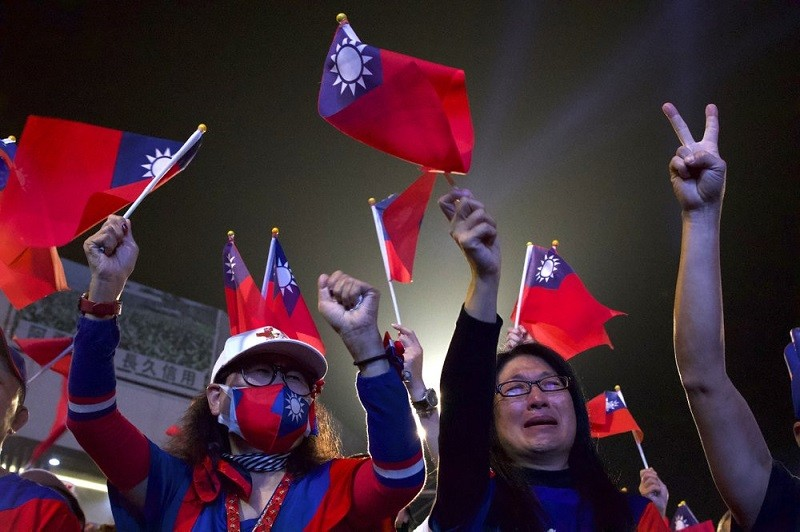 KMT supporters in Kaohsiung