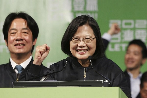 Tsai Ing-wen re-elected as Taiwan's President Saturday.
