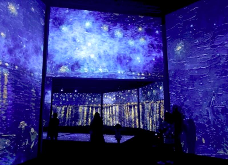 《再見梵谷-光影體驗展》台北場自15日展至4月5日(圖/台灣英文新聞Lyla Liu)