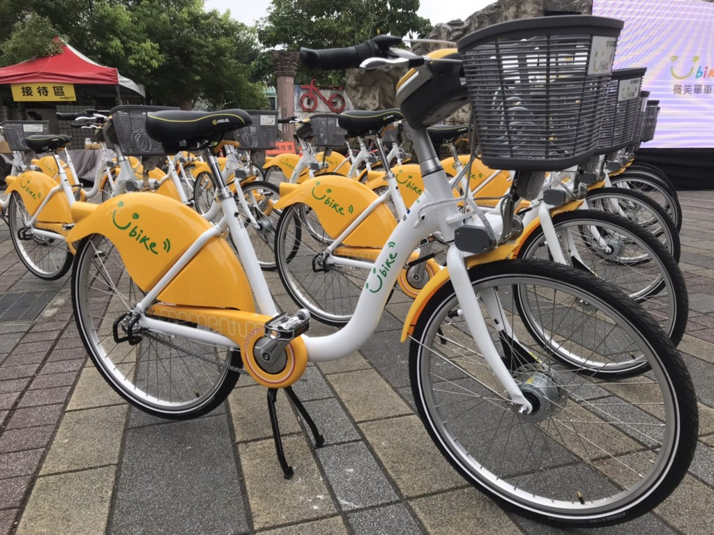 New YouBikes in Gongguan District.