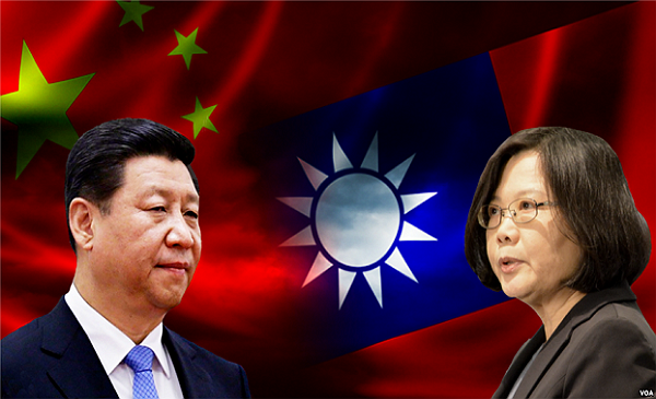 Tsai Ing-wen (right) is open to meeting with Xi Jinping (left) under certain conditions. (Wikimedia photo)