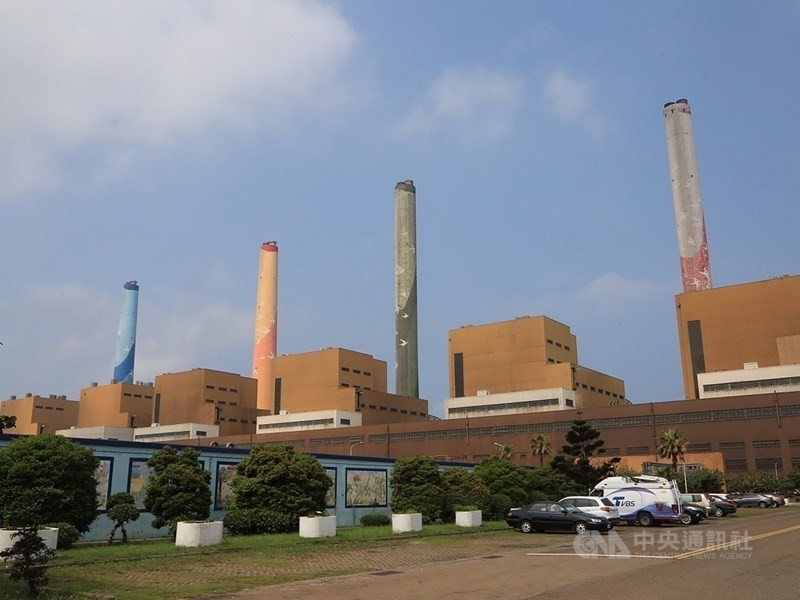 圖為台中火力發電廠 (中央社檔案照片)