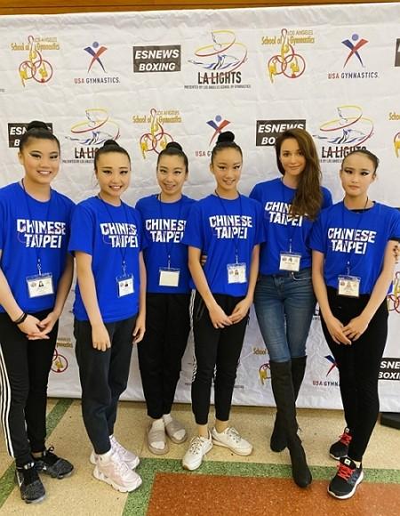 Ukrainian-born actress helps Taiwan gymnastics team secure gold medal