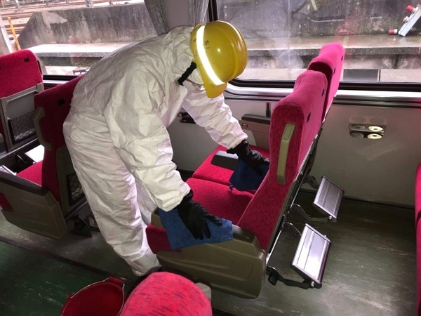 TRA trains sanitized daily amidst coronavirus fears. (TRA photo)