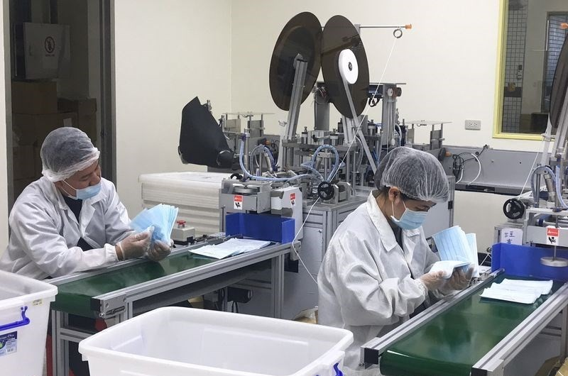 Mask factory in Taiwan