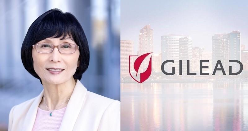"""楊台瑩(圖)目前擔任吉利德(Gilead)公司副總裁 (圖/<a href=""""https://www.gilead.com/about/leadership/senior-management/taiyin-yang"""" target=""""_blank"""">吉利德官網</a>, TN後製)"""